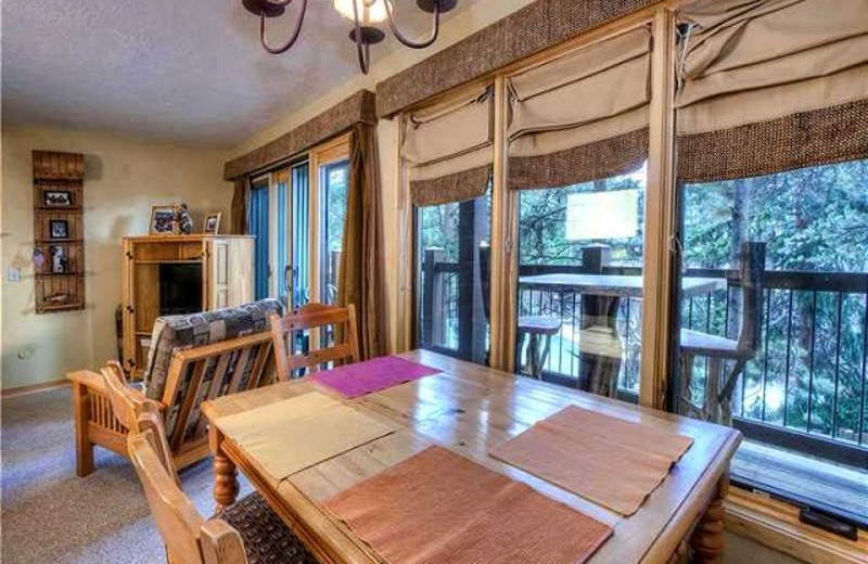 Vacation rental dining room at Alpine Meadows Management.
