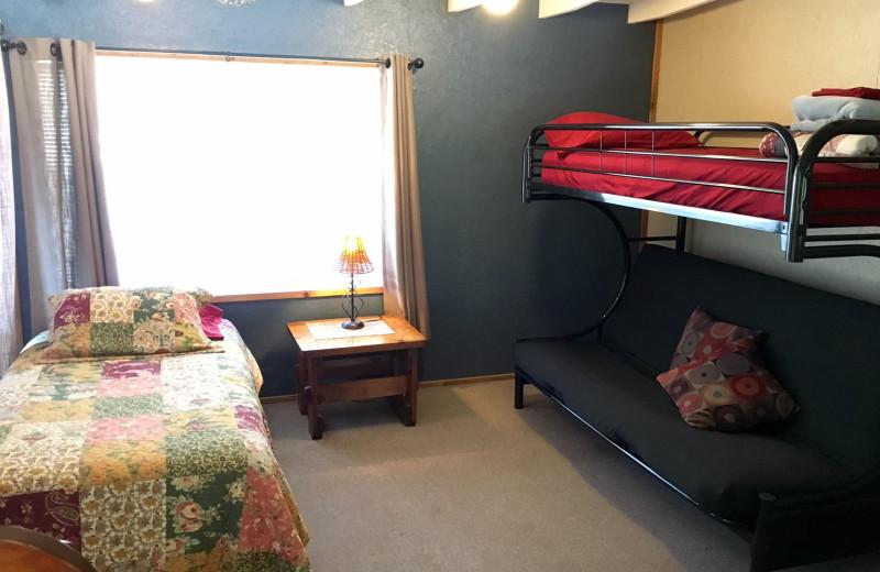 Lake house bedroom at Heart of Texas Lake Resort.
