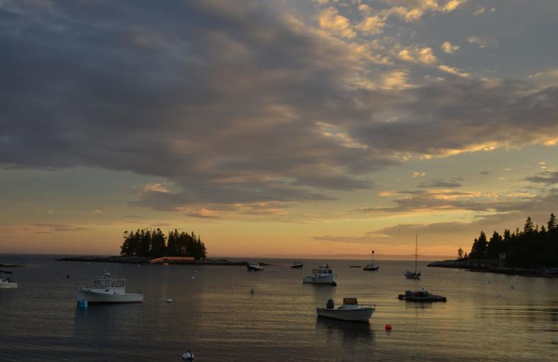 Sunset at Newagen Seaside Inn.