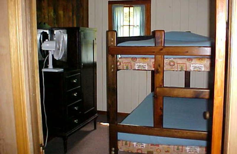 Bedroom in cabin at Tamarack Resort.