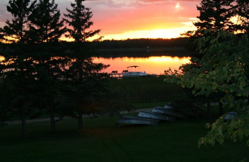 Sunset at White Birch Resort.