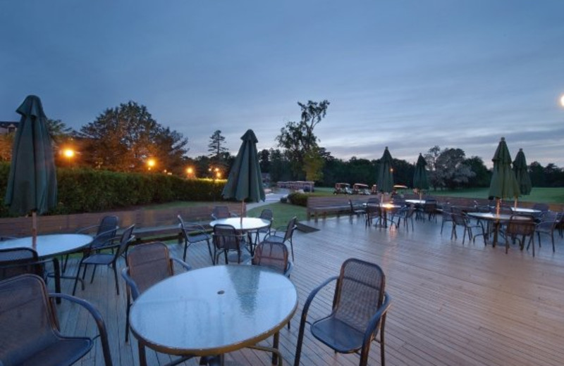Outdoor dining at Cranwell Resort.