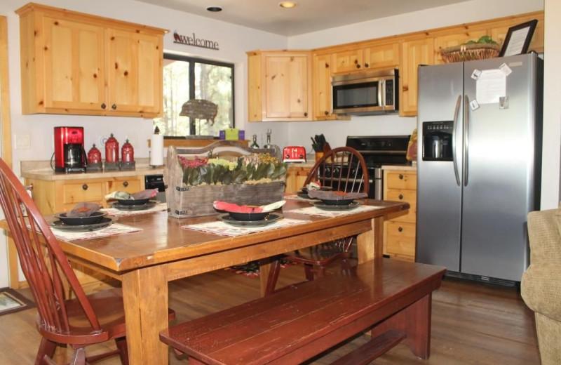 Kitchen at Acorn Lodge.