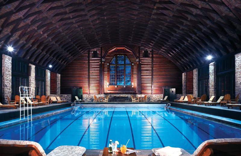 Indoor pool at Fairmont Le Chateau Montebello.