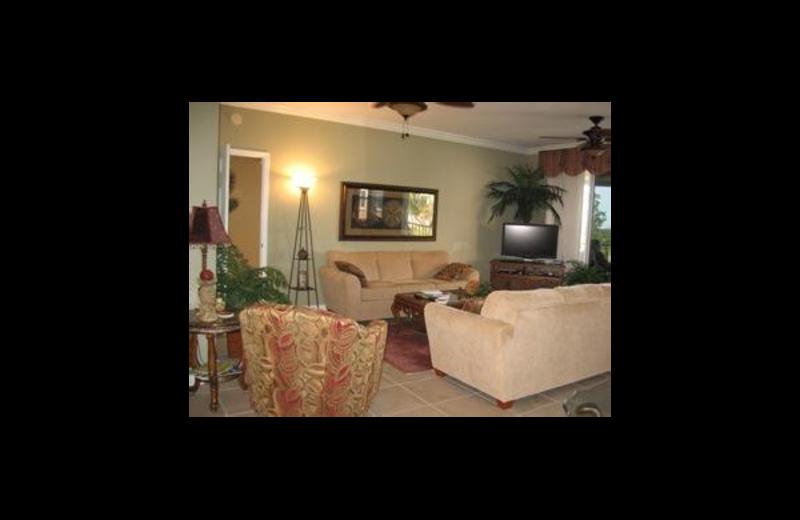 Vacation rental living room at Sunshine Resort Rentals, LLC.