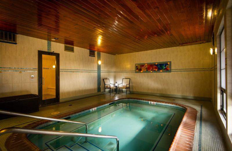 Hot tub at Stoneridge Resort.