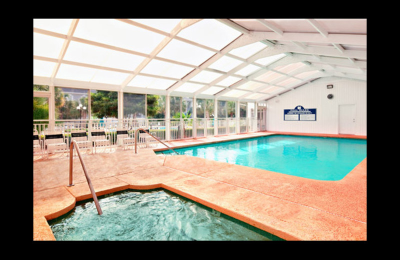 Indoor pool at Sea Trail Resort.