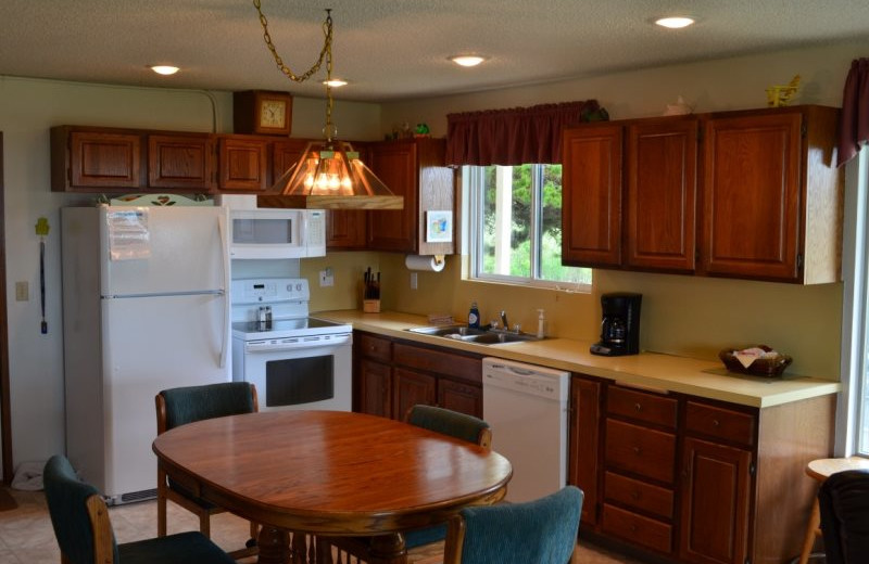 Guest kitchen at Hi-Tide Ocean Beach Resort.
