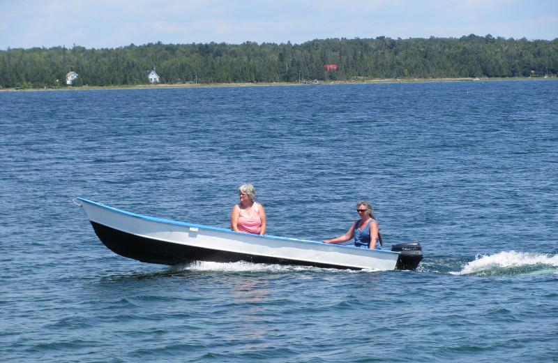 Boating at Black Rock Resort.
