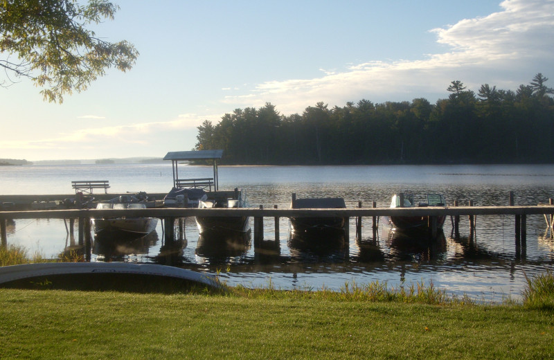 Dock view at Moosehorn Resort.
