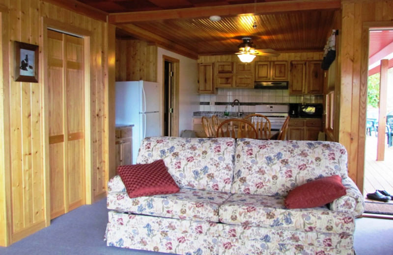 Cabin interior at Contessa Resort.