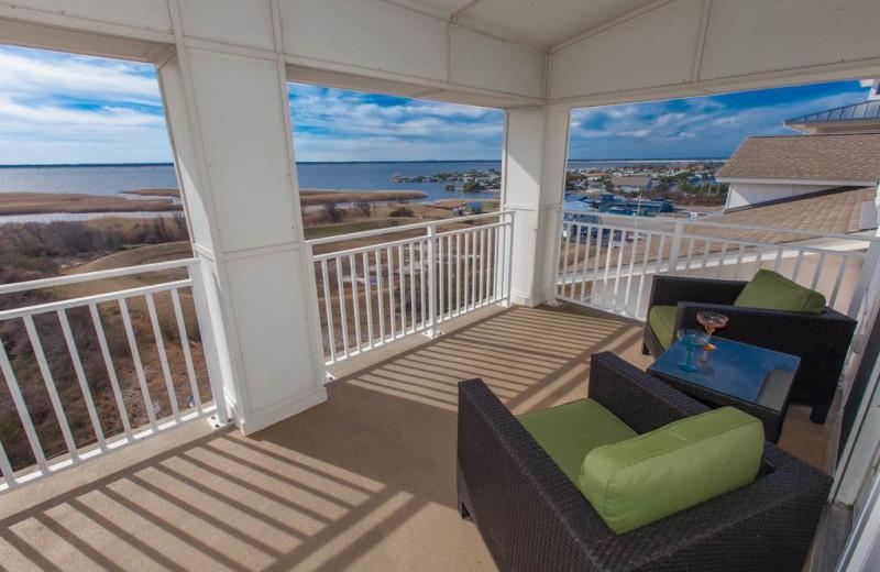 Rental balcony at Sanctuary Vacation Rentals at Sandbridge.