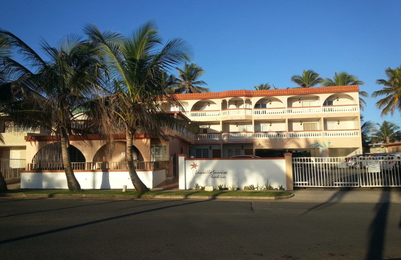 Exterior view of Luquillo Sunrise Beach Inn.