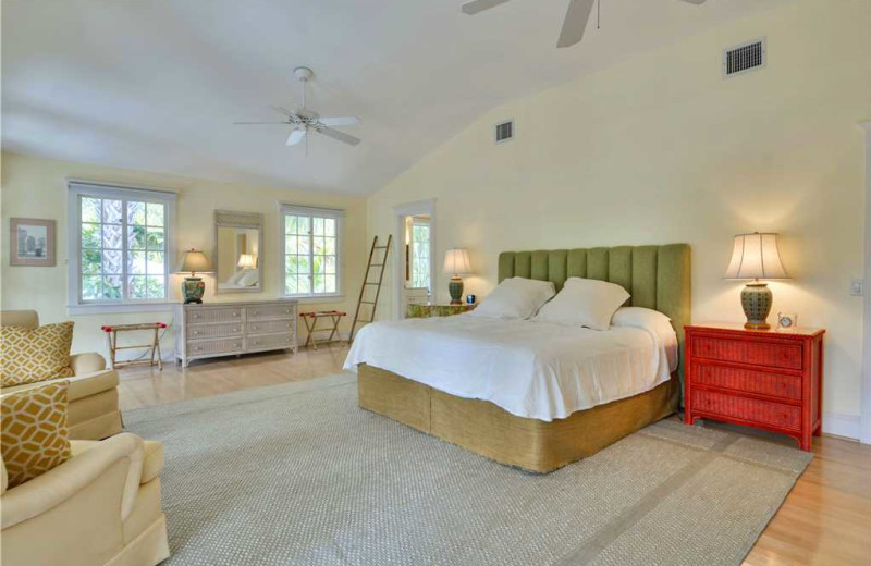 Rental bedroom at At Home in Key West, LLC.