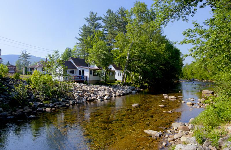 River view at Riverbank Motel & Cabins.
