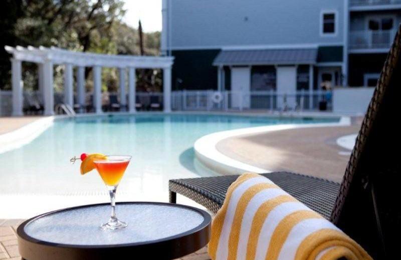 Outdoor pool at Hampton Inn & Suites Jekyll Island
