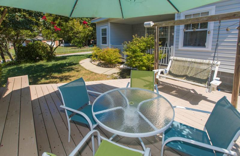 Rental patio at Atkinson Realty.