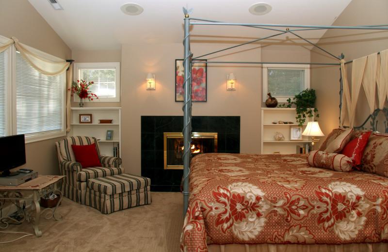 Guest room at Selah Inn Bed & Breakfast.