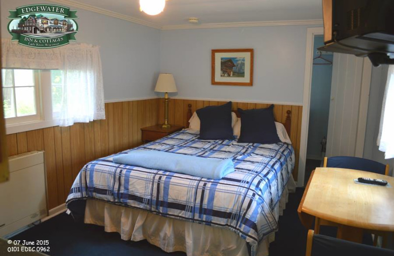 Guest bedroom at Edgewater Inn & Cottages.