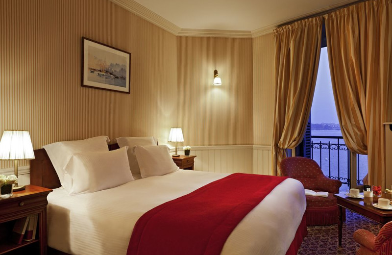 Guest room at Grand Hotel Barriere.