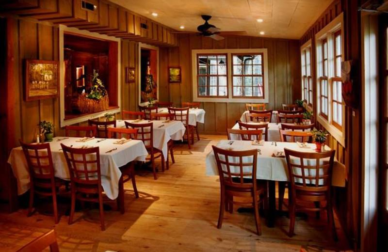 Dining at Lake Rabun Hotel.