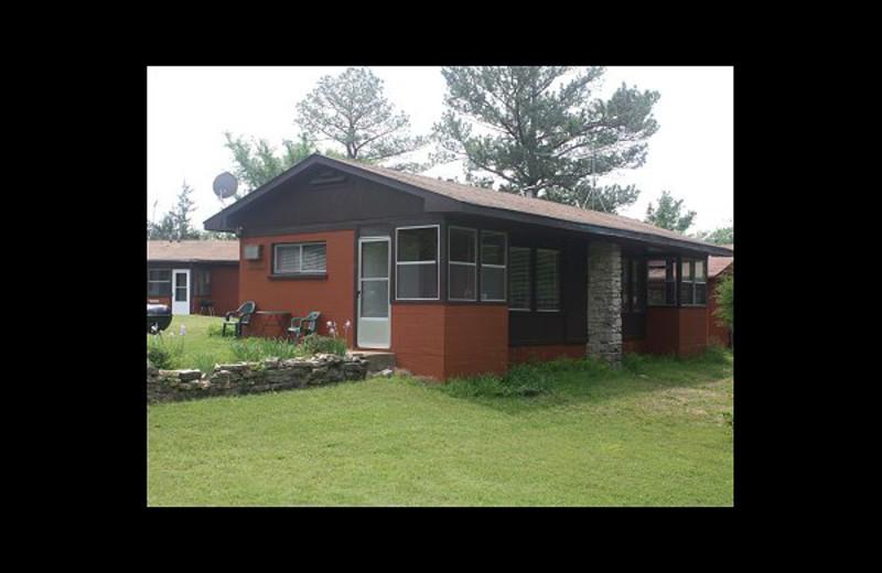Cabin exterior at FishUn Time Resort.