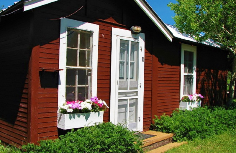 Cabin exterior at East Glacier Motel & Cabins.