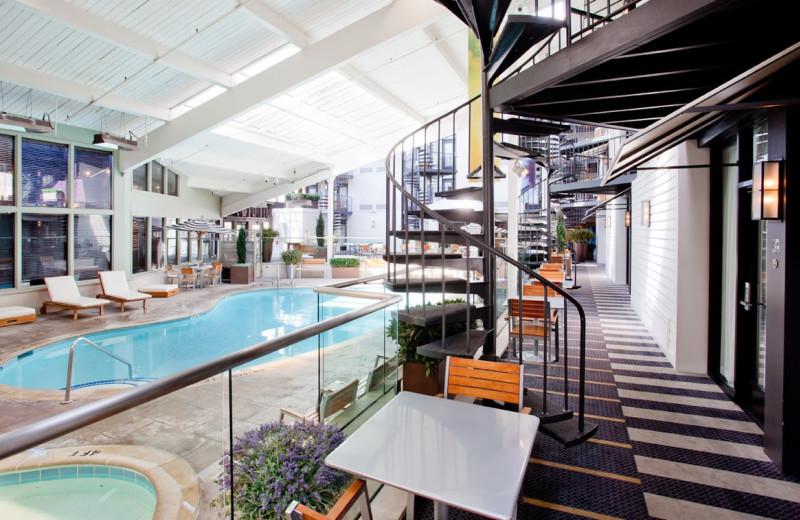 Indoor pool at Weber's Hotel.