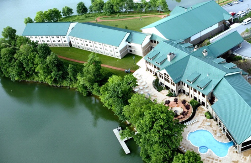 Aerial view of Stonewall Resort.