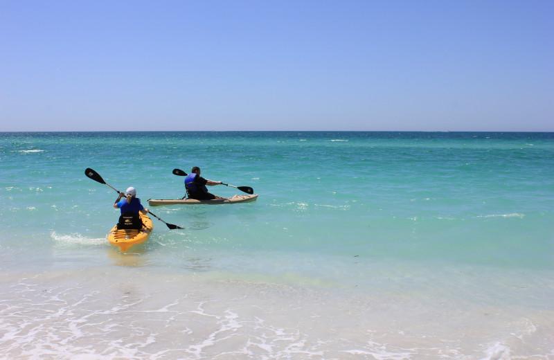 Kayaking at Anna Maria Vacations.