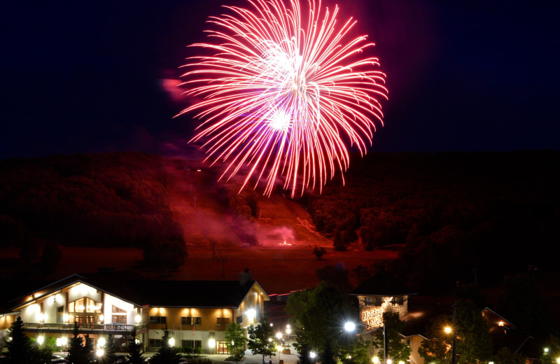 Fireworks at Holiday Valley Resort.