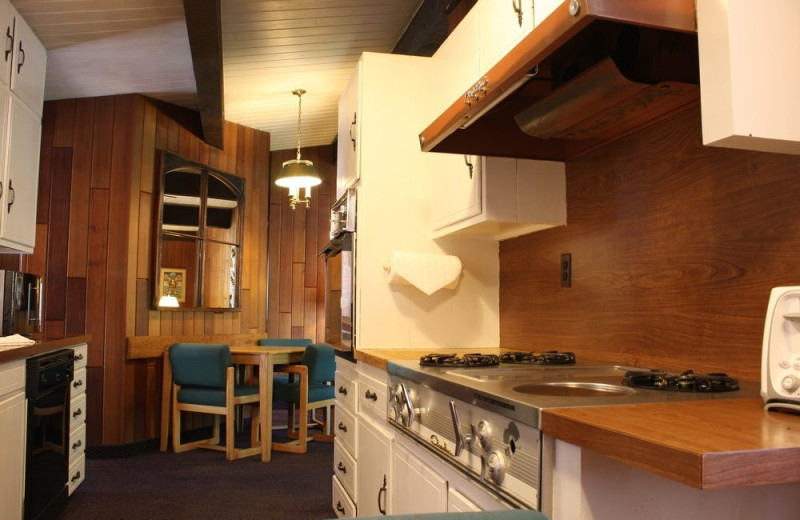 Guest kitchen at St. Moritz Lodge & Condominiums.
