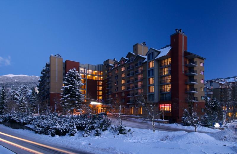 Exterior view of Hilton Whistler Resort.