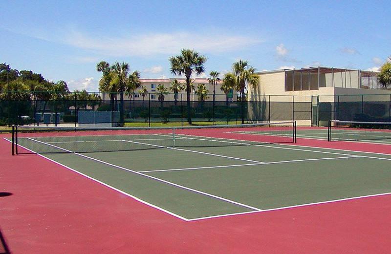 Tennis court at St. Augustine Ocean & Racquet Resort.
