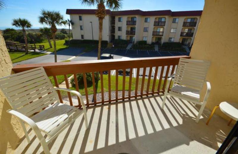Balcony view at St. Augustine Ocean & Racquet Resort.