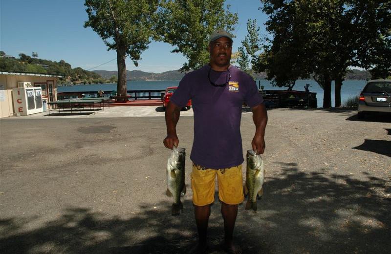 Fishing at Indian Beach Resort.