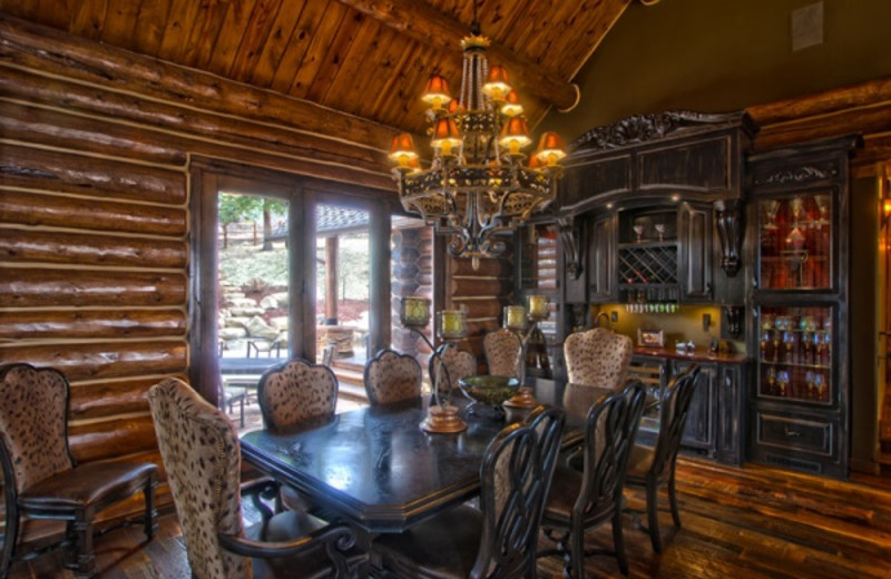 Rental dinning room at Pagosa Springs Accommodations.