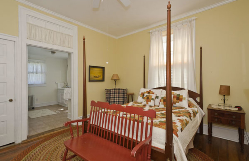 Cottage bedroom at The Pack House Inn.