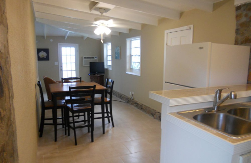 Rental kitchen and dining room at Paradise Cove Resort.