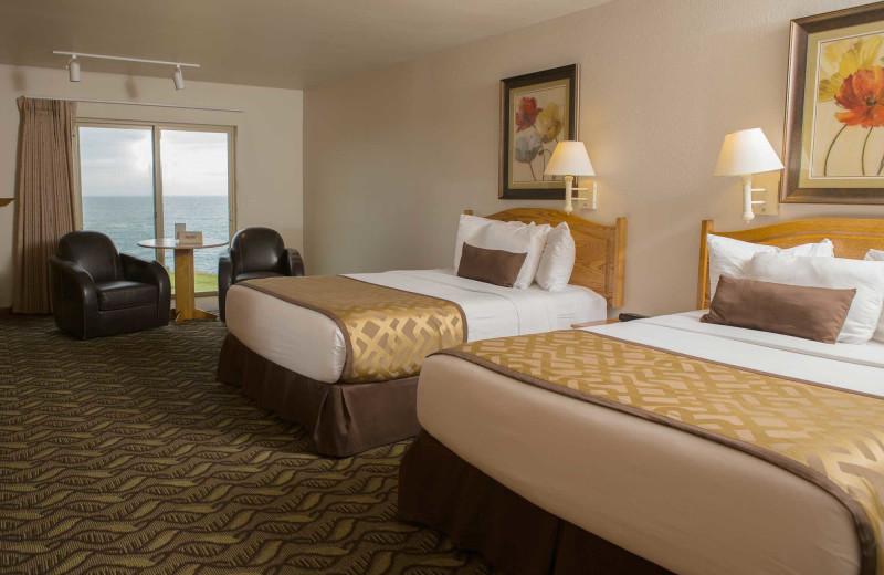Guest room at Adobe Resort.