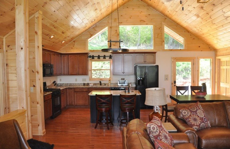 Cabin interior at Great Smokys Cabin Rentals.