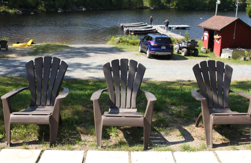 Adirondack chairs at Olive the Lake.