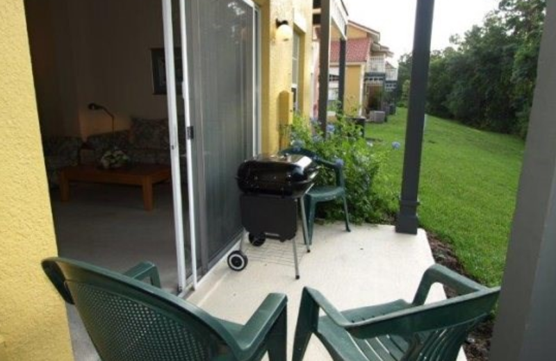 Rental patio at Orlando Premier Vacation Villas.
