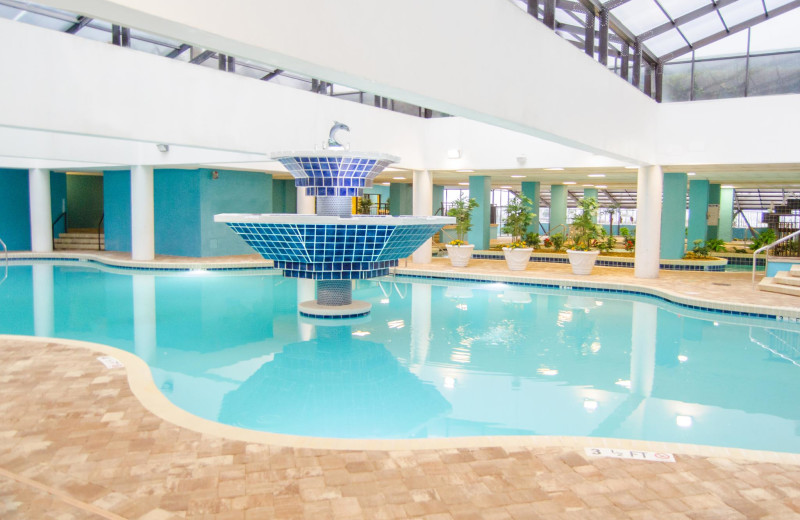 Indoor pool at Landmark Resort.