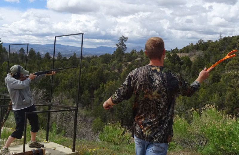 Rifle shooting at Zion Ponderosa Ranch Resort.