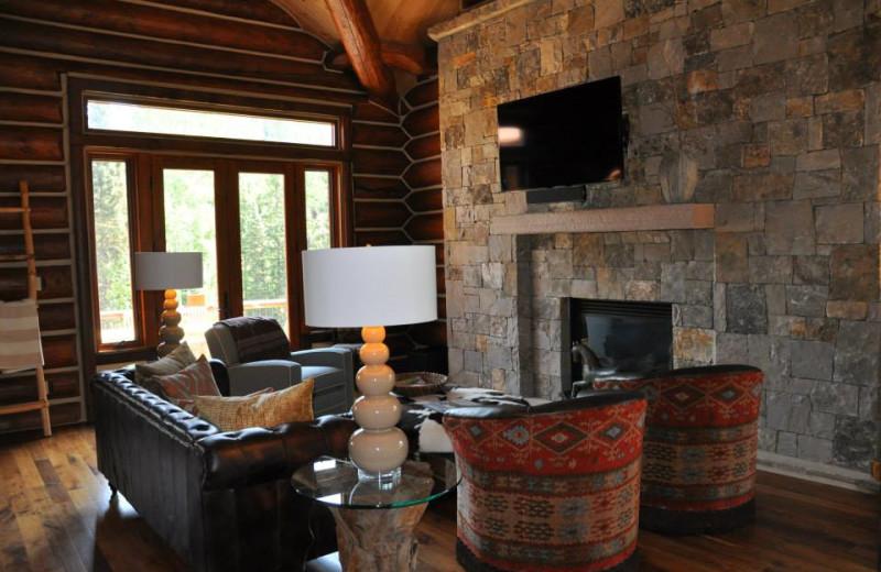Vacation rental living room at SilverStar Luxury Properties.