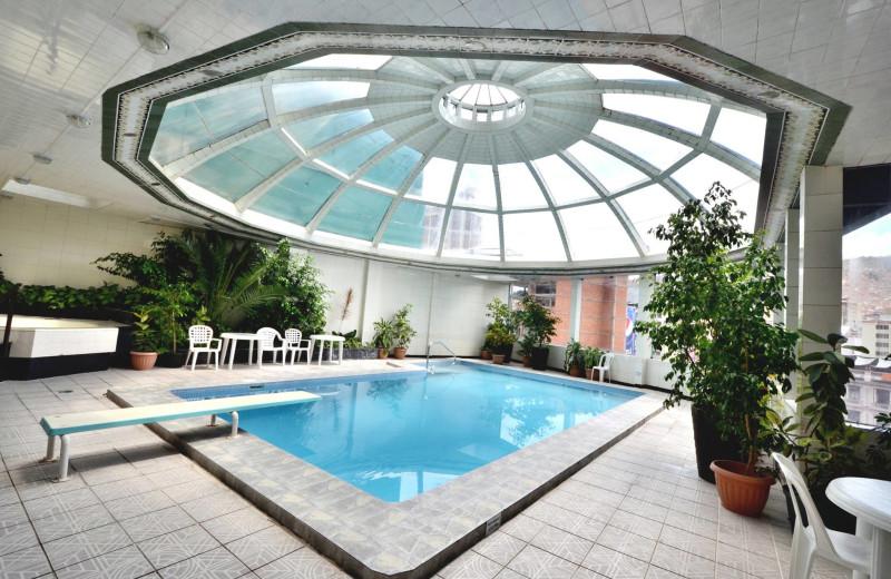 Indoor pool at Hotel Presidente La Paz Bolivia.