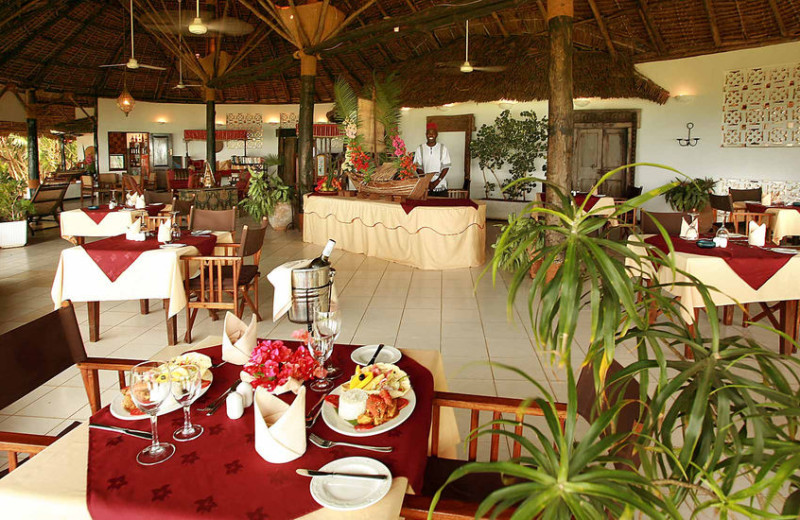 Dining at Mbweni Ruins Hotel.