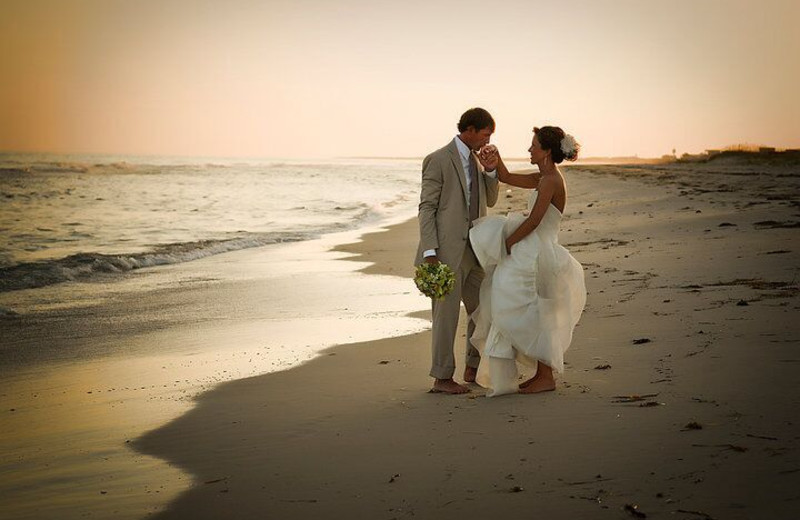 Wedding couple at Resort Vacation Properties of St. George Island.
