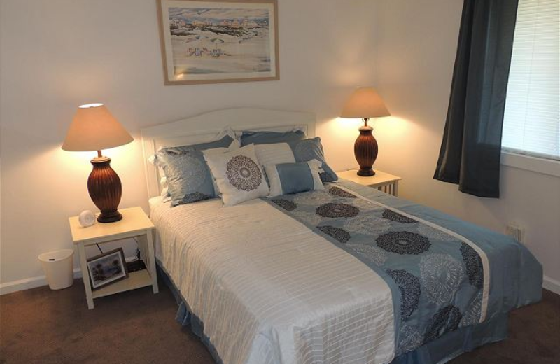 Vacation bedroom at Myrtle Beach Vacation Rentals.